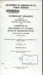 Abatement of Asbestos in D.C. Public Schools