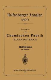 Helfenberger Annalen 1890: Chemischen Fabrik