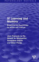 Experimental Psychology Its Scope and Method  Volume IV  Psychology Revivals  PDF