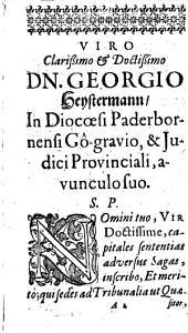 Processus iuridicus contra sagas et veneficos ...: Unacum decisionibus quaestionum adhanc materiam pertinentium
