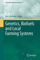 Genetics  Biofuels and Local Farming Systems PDF