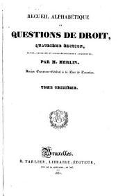 Recueil alphabétique de questions de droit: Volume16