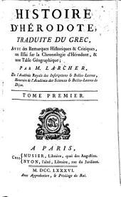 Histoire d'Hérodote, tr. avec des remarques historiques et critiques par m. Larcher