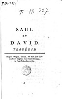Saul Et David  Trag  die  D apr  s L anglais  Intitul    The Man After God s Own Heart PDF