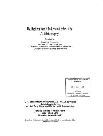 Religion and Mental Health PDF