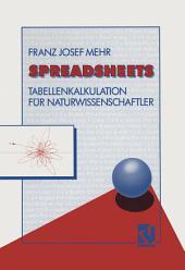 Spreadsheets: Tabellenkalkulation für Naturwissenschaftler