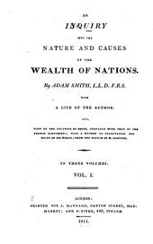 An Inquiry Into the Nature and Causes of the Wealth of Nations: Volume 1, Part 1