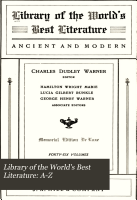 Library of the World s Best Literature  A Z PDF
