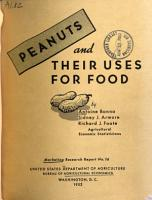Peanuts and Their Uses for Food PDF