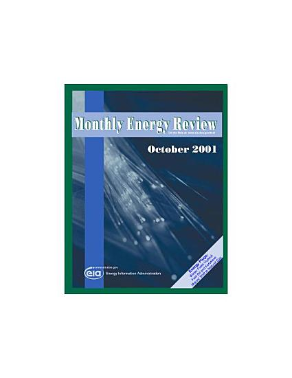 Monthly Energy Review  October 2001 PDF
