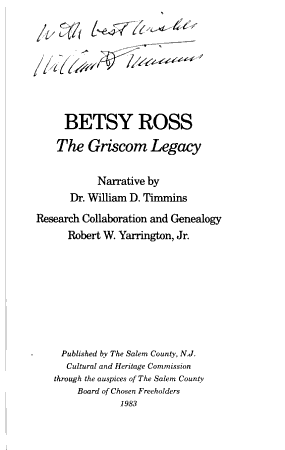 Betsy Ross  the Griscom Legacy PDF