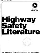 Highway Safety Literature PDF