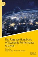 The Palgrave Handbook of Economic Performance Analysis PDF