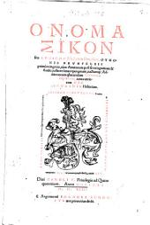 Ottonis Brunfelsii Onomasticon seu lexicon medicinae Simplicis: iuxta Dioscoridis historiam