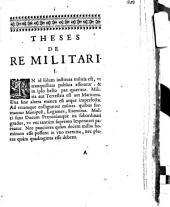 Theses de re militari