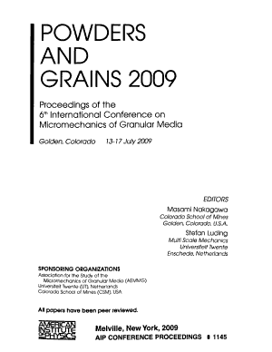 Powders and Grains 2009
