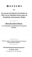 Bericht   ber den neuesten in Frankreich und zun  chst im Elsa   von der R  mischen Kirche gegen die Evangelische unternommenen Kampf PDF