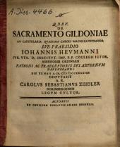 De sacramento Gildoniae: ad capitularia quaedam Caroli Magni illustranda