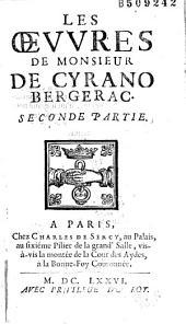 Les Oeuvres de Monsieur de Cyrano-Bergerac...