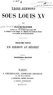 ptie. Un sermon au désert