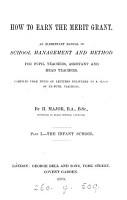 How to earn the merit grant  an elementary manual of school management PDF