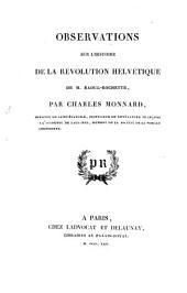 Observations sur l'Histoire de la Révolution helvétique de M. Raoul-Rochette