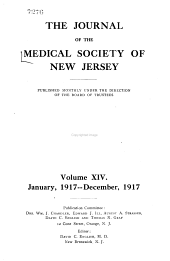 Journal of the Medical Society of New Jersey: Volume 14