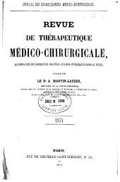 Revue de thérapeutique médico-chirurgicale: Volume1874