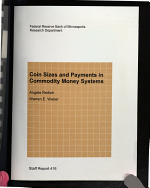 Coin Sizes and Payments in Commodity Money Systems