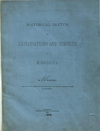 Historical Sketch of Explorations and Surveys in Minnesota PDF