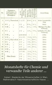 Monatshefte für Chemie und verwandte Teile anderer Wissenschaften: gesammelte Abhandlungen aus den Sitzungsberichten der Kaiserlichen Akademie der Wissenschaften, Band 4