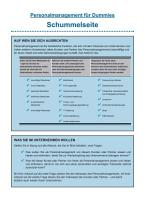 Personalmanagement f  r Dummies PDF