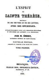 L'esprit de Sainte Thérèse: recueilli de ses oeuvres et de ses lettres, avec ses opuscules...