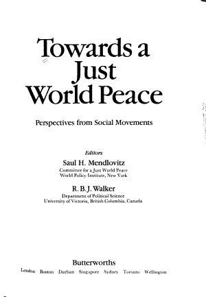Towards a Just World Peace PDF