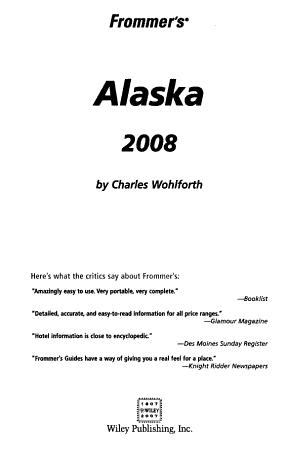Frommer s Alaska 2008 PDF