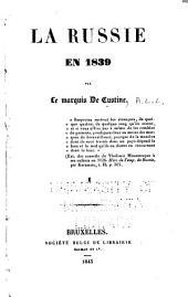 La Russie en 1839: Volume1