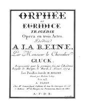Orpheus und Eurydice: Oper in drei Acten