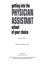 Getting Into the Physician Assistant School of Your Choice  Second Edition PDF