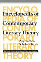 Encyclopedia of Contemporary Literary Theory PDF
