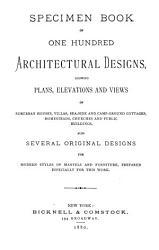 Specimen Book of One Hundred Architectural Designs PDF