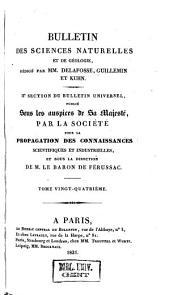 Bulletin universel des sciences et de l'industrie. 2: Bulletin des sciences naturelles et de géologie, Volume24
