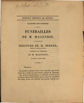 Funérailles de M. Magendie: discours de M. Serres ... le jeudi 11 octobre 1855