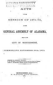 Alabama Laws and Joint Resolutions of the Legislature of Alabama