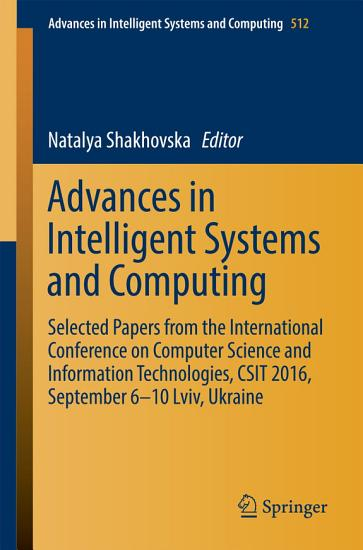 Advances in Intelligent Systems and Computing PDF