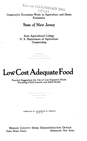 Low Cost Adequate Food