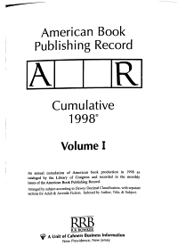 American Book Publishing Record Cumulative 1998 PDF