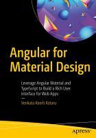 Angular for Material Design PDF