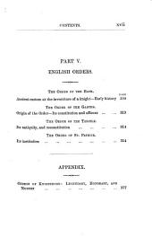 The Military Religious Orders of the Middle Ages: The Hospitallers, the Templars, the Teutonic Knights, and Others. With an Appendix of Other Orders of Knighthood: Legendary, Honorary, and Modern