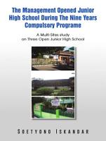 The Management Opened Junior High School During The Nine Years Compulsory Programe PDF