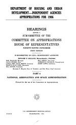 Department of Housing and Urban Development--independent agencies appropriations for 1986